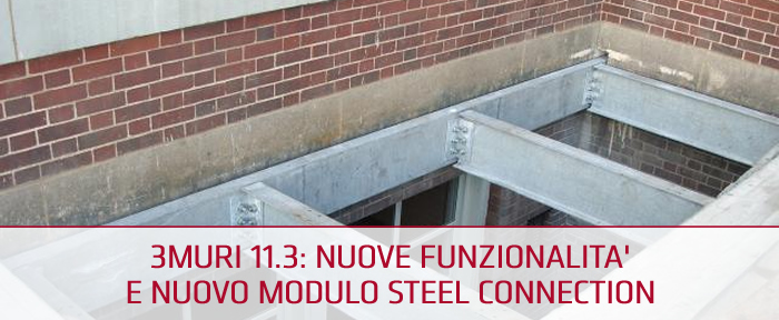 Free Webinar 3Muri 11.3 con modulo Steel Connection